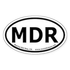 Marina Del Rey, California Oval Bumper Decal