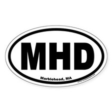 "Marblehead, MA ""MHD"" Euro Style Oval Decal"