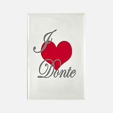 I love (heart) Donte Rectangle Magnet