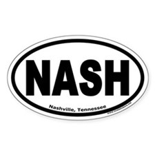 """Nashville, Tennessee """"NASH"""" Oval Decal"""