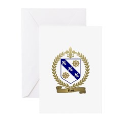 RIOU Family Crest Greeting Cards (Pk of 10)