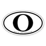 Ouray Colorado O Oval Sticker