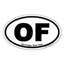 """Old Forge, New York """"OF"""" Oval Decal"""