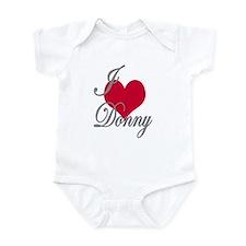 I love (heart) Donny Infant Bodysuit