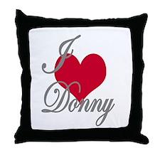 I love (heart) Donny Throw Pillow