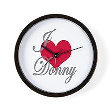 I love (heart) Donny Wall Clock