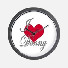I love (heart) Donny Wall Clock