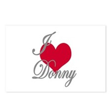I love (heart) Donny Postcards (Package of 8)