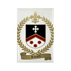 RIVARD Family Crest Rectangle Magnet