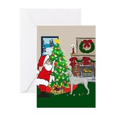 Deck The Halls Weimaraner Greeting Card