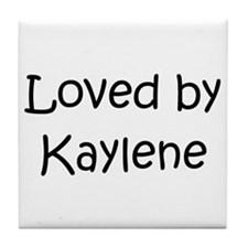 Cute Kaylen Tile Coaster