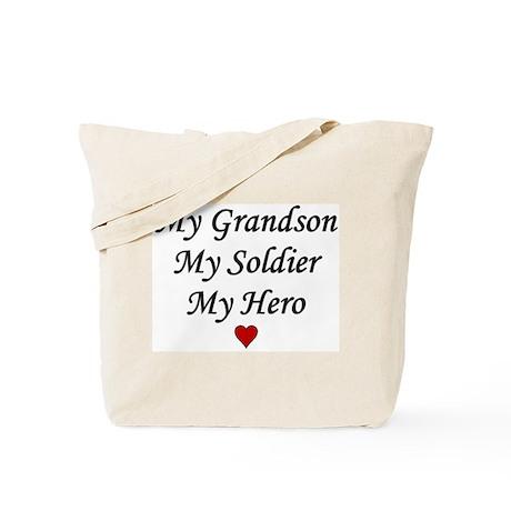 My Grandson Soldier Hero Tote Bag