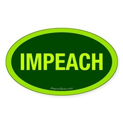 Green Impeach Oval Decal