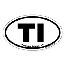 Thousand Islands NY TI Euro Oval Bumper Stickers