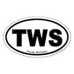 Tawas, Michigan Oval Euro Sticker