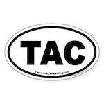 Tacoma, Washington TAC Oval Euro Sticker