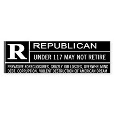 Rated R for Republican Bumper Bumper Sticker