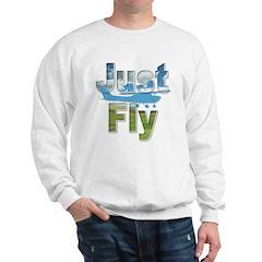 Just Fly Airplane Sweatshirt