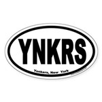 Yonkers, New York, YNKRS Euro Oval Sticker