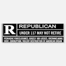 Rated R for Republican Bumper Bumper Bumper Sticker
