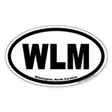 Wilmington North Carolina WLM Euro Oval Decal