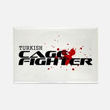 Turkish Cage Fighter Rectangle Magnet