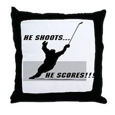 He shoots...He scores! Throw Pillow