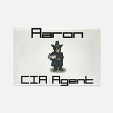 Aaron - CIA Agent Rectangle Magnet