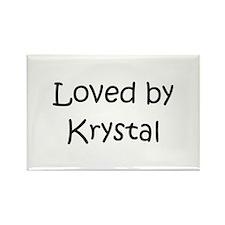 Funny Krystal Rectangle Magnet