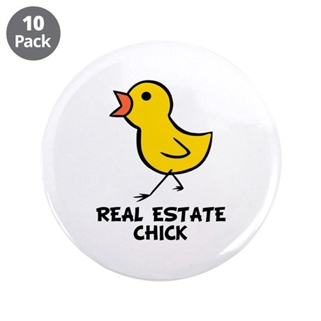 "Chick 3.5"" Button (10 pack)"