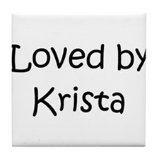 Funny Krista Tile Coaster