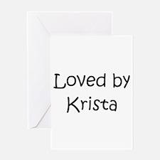 Cute Krista Greeting Card