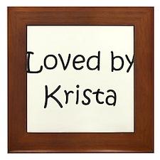 Cute Krista Framed Tile