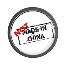 NOT MADE IN CHINA Wall Clock
