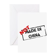 NOT MADE IN CHINA Greeting Card