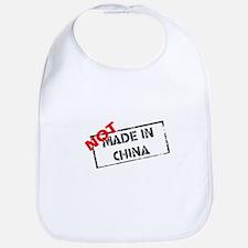 NOT MADE IN CHINA Bib