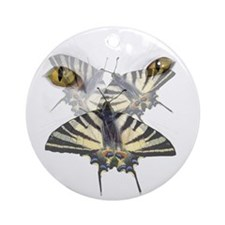 Swallowtail and Cats Eyes Ornament (Round)