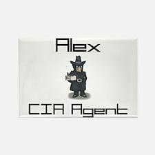 Alex - CIA Agent Rectangle Magnet