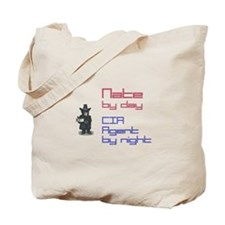 Nate - CIA Agent by Night Tote Bag