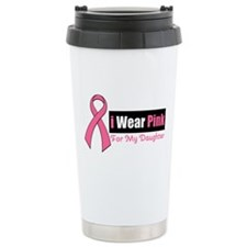 I Wear Pink Travel Coffee Mug