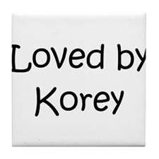Cute Korey Tile Coaster