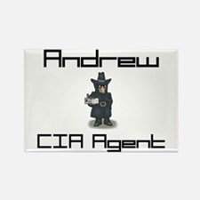 Andrew - CIA Agent Rectangle Magnet