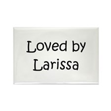 Cute Larissa Rectangle Magnet