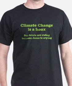 Climate Change is a hoax GREEN T-Shirt