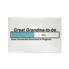 Download Great Grandma to Be Rectangle Magnet
