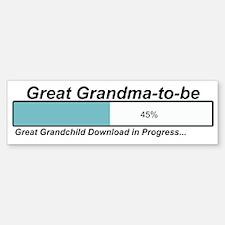 Download Great Grandma to Be Bumper Bumper Bumper Sticker