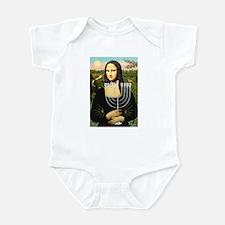 Mona Lisa's Menorah Infant Bodysuit