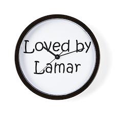 Cute Lamar Wall Clock