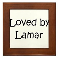 Cute Lamar Framed Tile