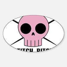 Stitch Bitch Oval Decal